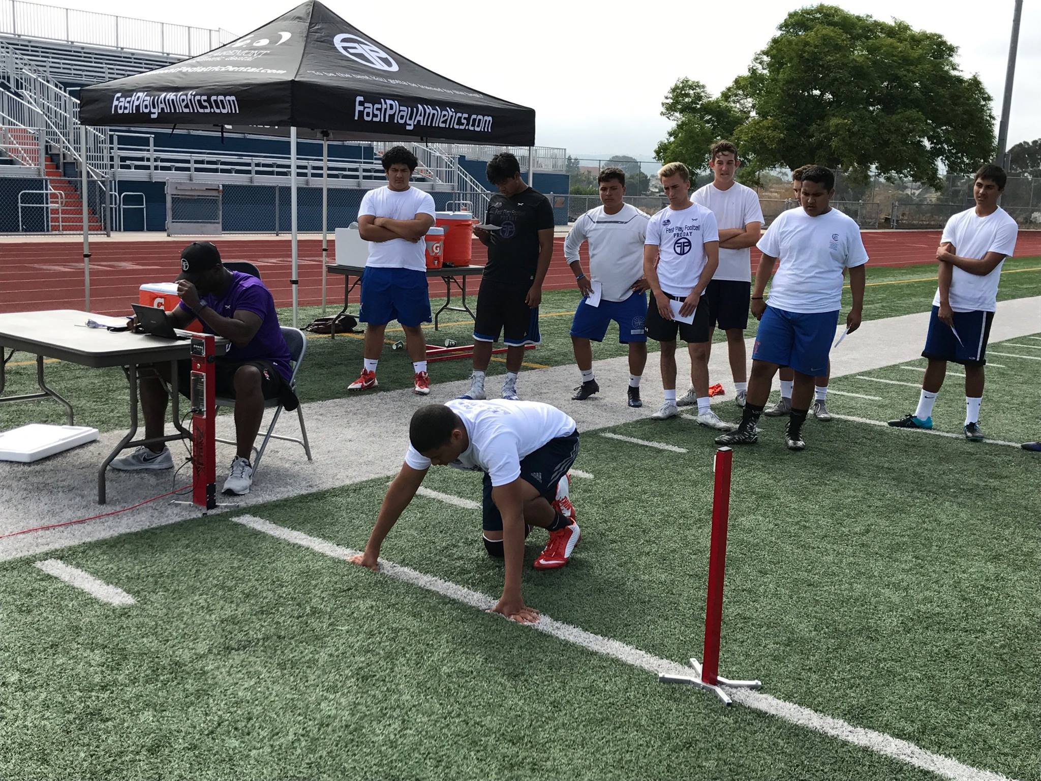Clairemont High Combine Testing