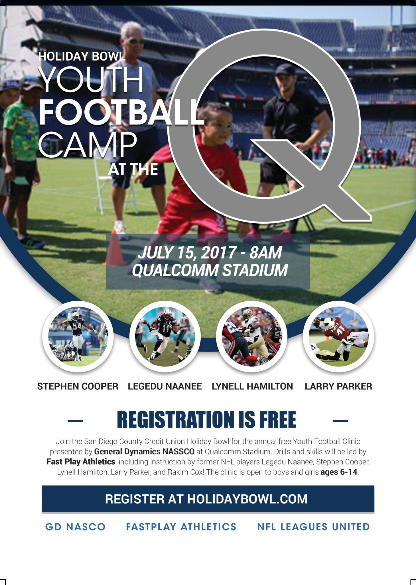 NFL LEAGUES UNITED Holiday Bowl Youth Football Clinic - NFL