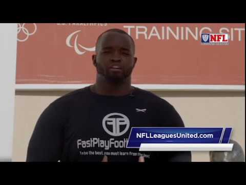 Former San Diego Charger OG Nwagbuo talks flag football at the Chula Vista Olympic Center 2017